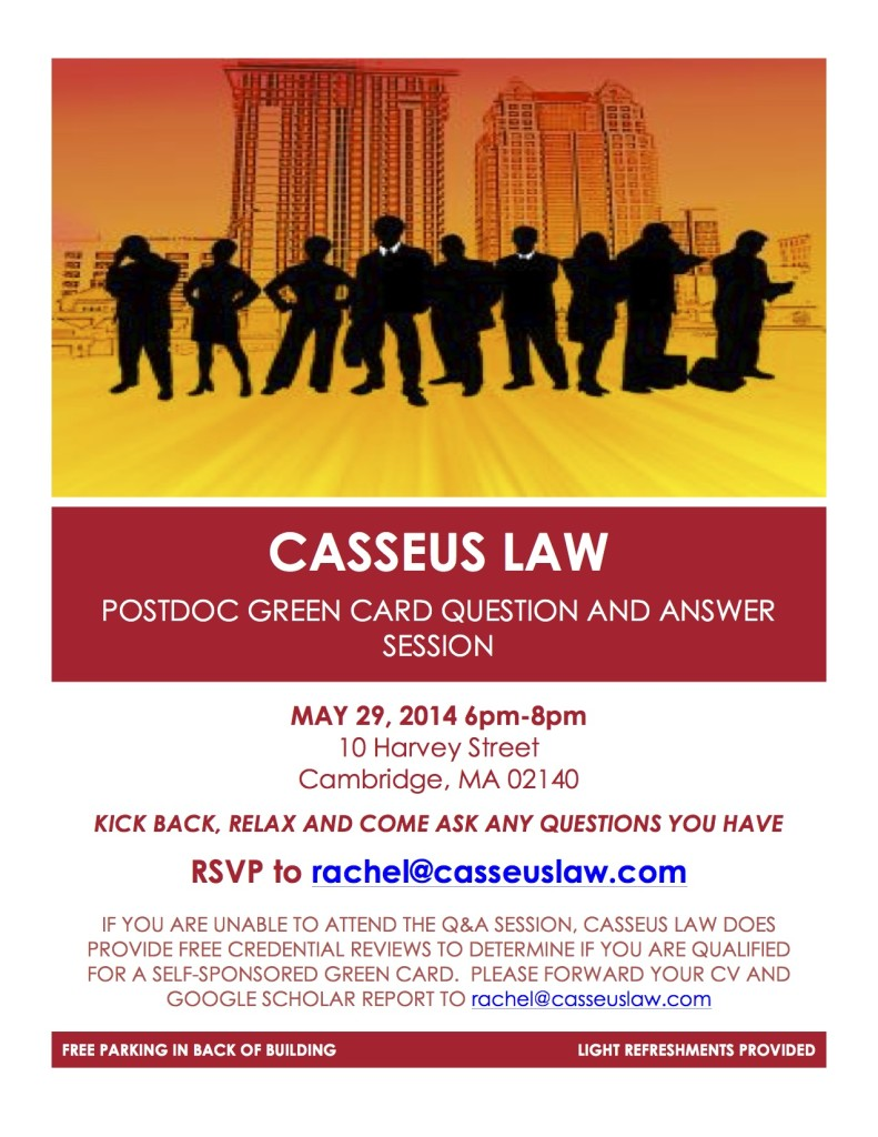 Casseus Law Event May 29, 2014