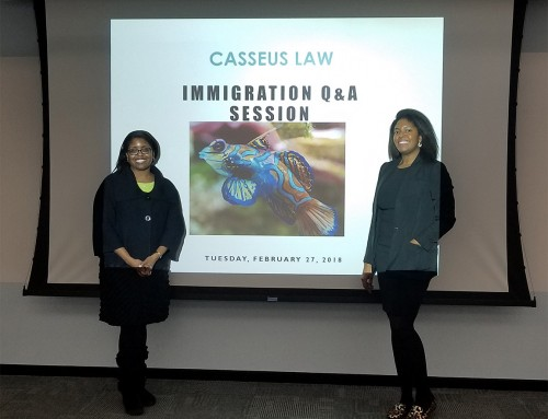 Pictures from our Casseus Law February 2018 Green Card Q&A Event