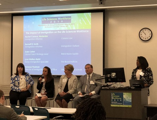 Rachel Casseus Speaking and Moderating Panel at the MassBio Life Sciences Workforce 2019 Conference, Held on Thursday, May 23, 2019 at Northeastern University